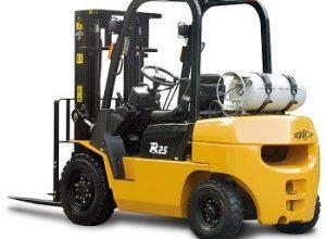 Xe nâng hàng động cơ Hang cha 1 - 1.8 tấn