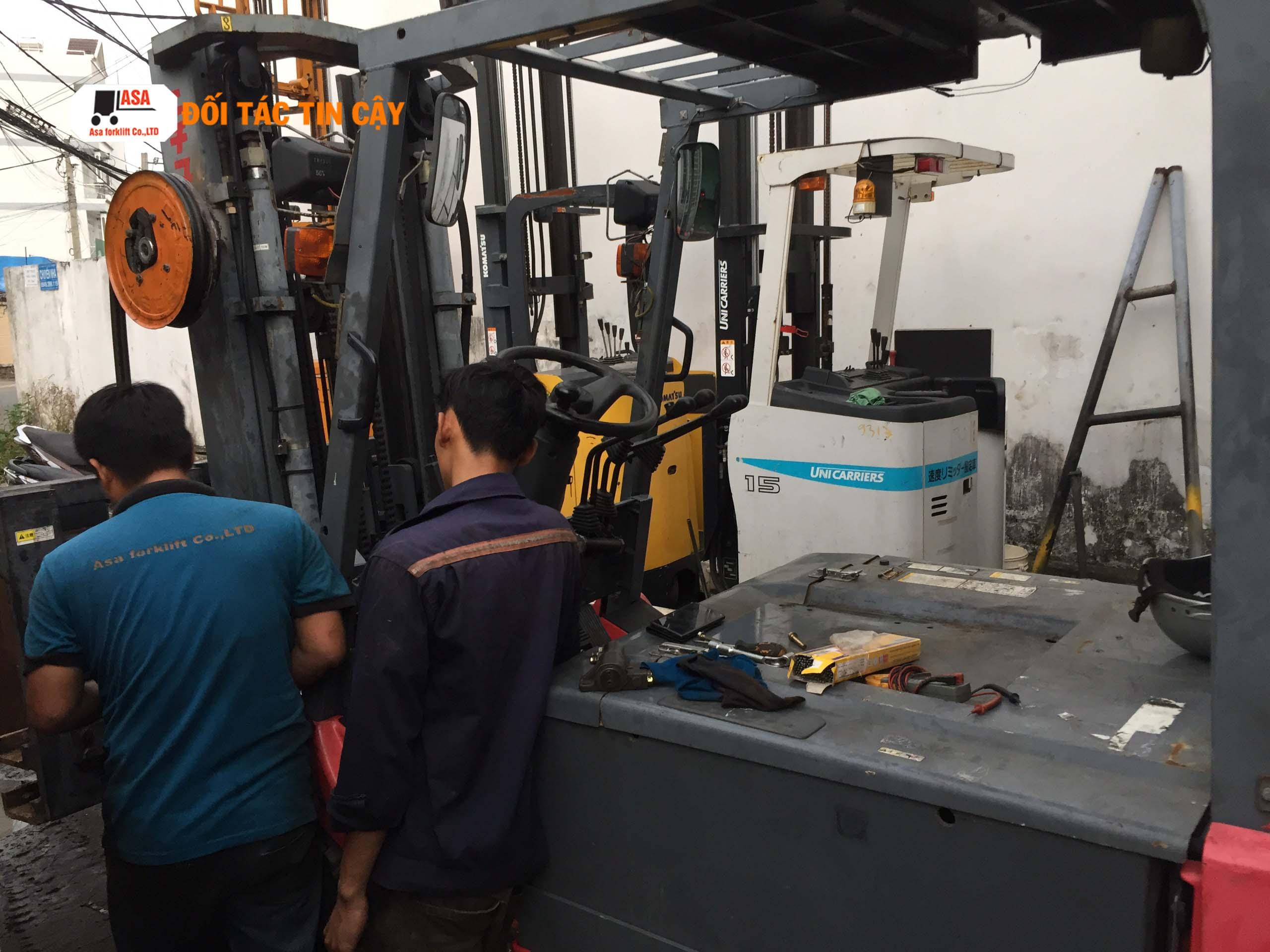 Dịch vụ sửa xe nâng hàng giá tốt và nhanh tại Đồng Nai