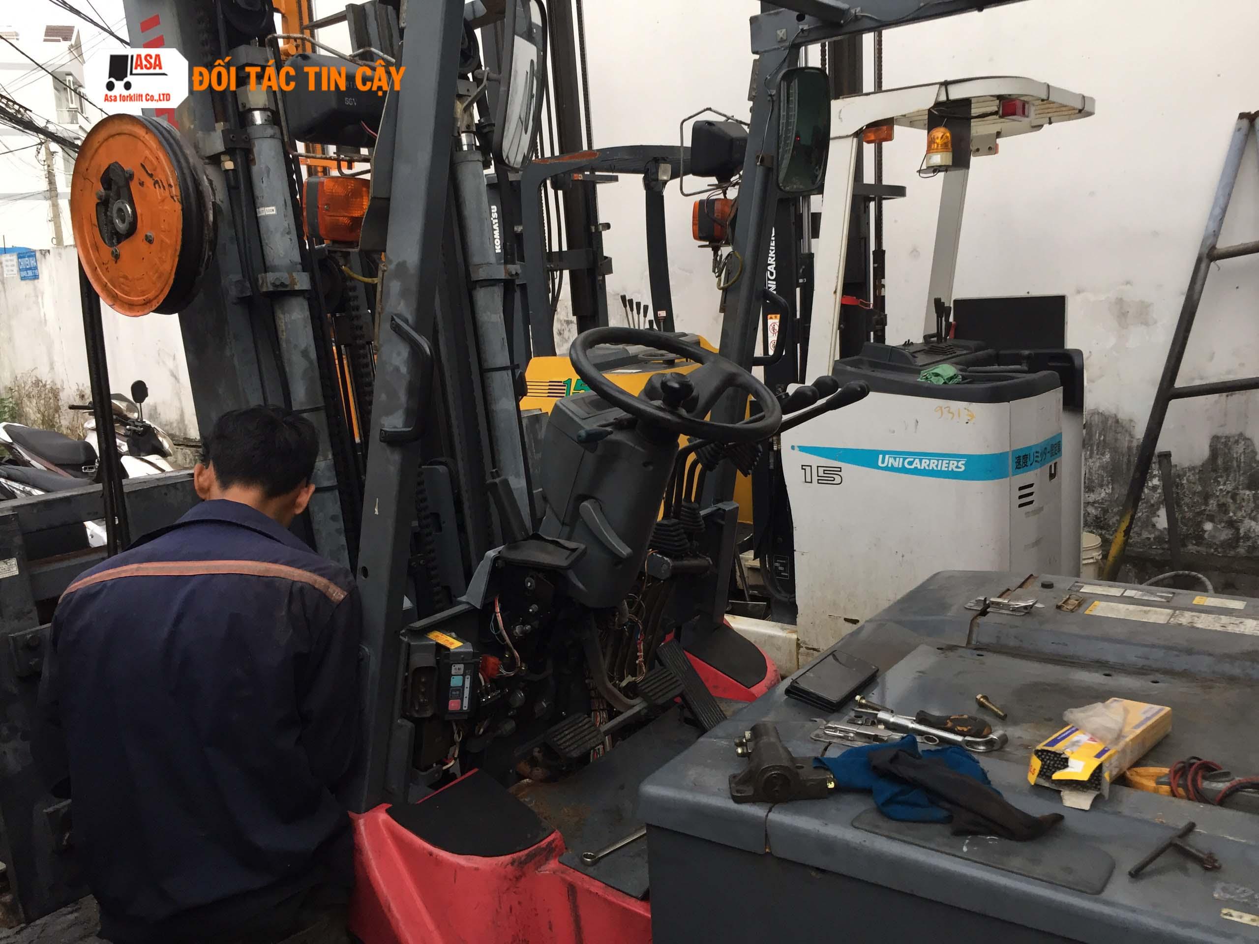 Tại Asa có một quy trình bảo dưỡng xe nâng điện vô cùng chuyên nghiệp nghiệp